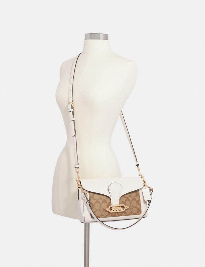 Coach Small Jade Shoulder Bag With Signature Canvas Detail Im/Brown Black  Alternate View 2