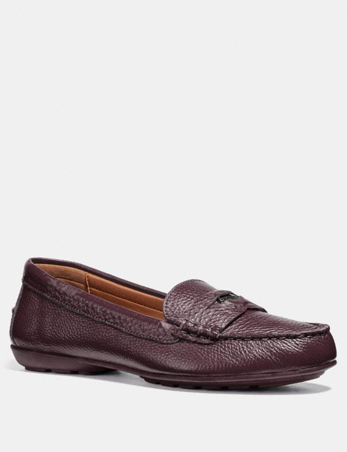 Coach Coach Penny Loafer Wine Friends & Family Sale Women's Shoes