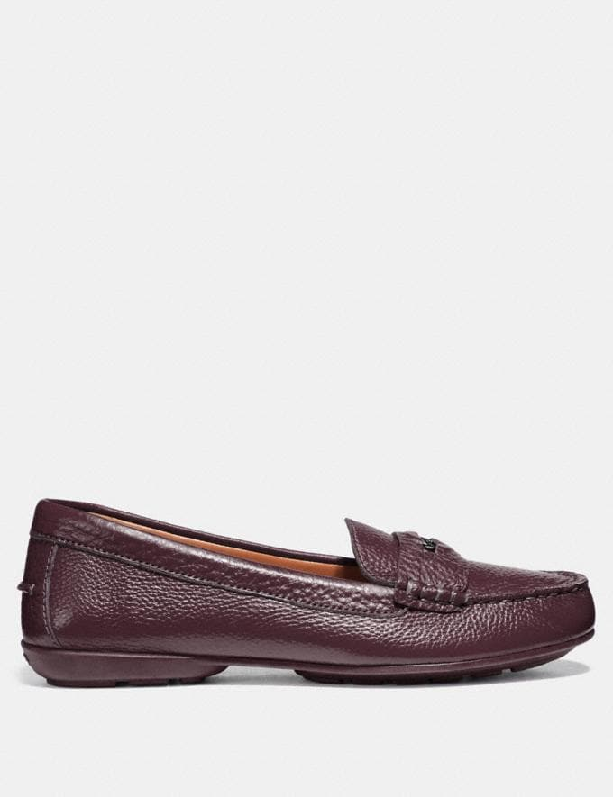 Coach Coach Penny Loafer Wine Friends & Family Sale Women's Shoes Alternate View 1