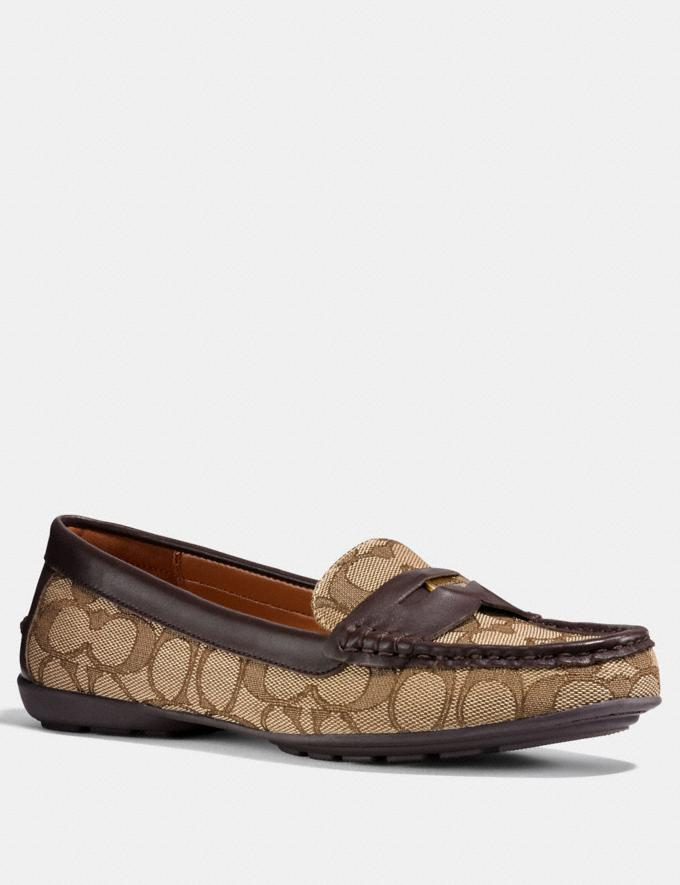Coach Coach Penny Loafer Khaki/Mahogany Friends & Family Sale Women's Shoes