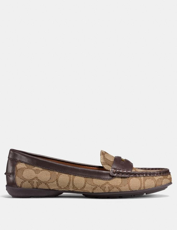 Coach Coach Penny Loafer Khaki/Mahogany Friends & Family Sale Women's Shoes Alternate View 1