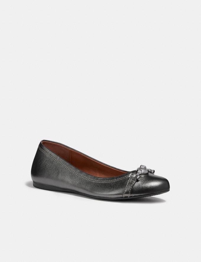 Coach Leila Ballet Gunmetal Friends & Family Sale Women's Shoes