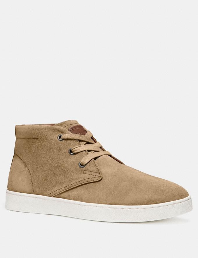 Coach Suede Boot Camel