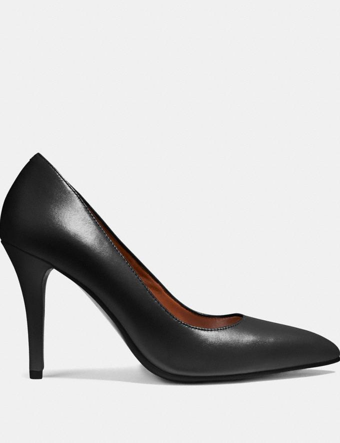 Coach Pointed Toe Pump Black Friends & Family Sale Women's Shoes Alternate View 1