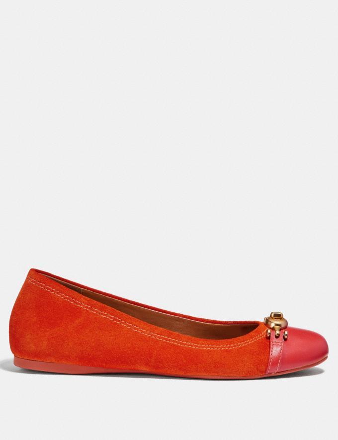 Coach Leila Ballet Orange Red Friends & Family Sale Women's Shoes Alternate View 1