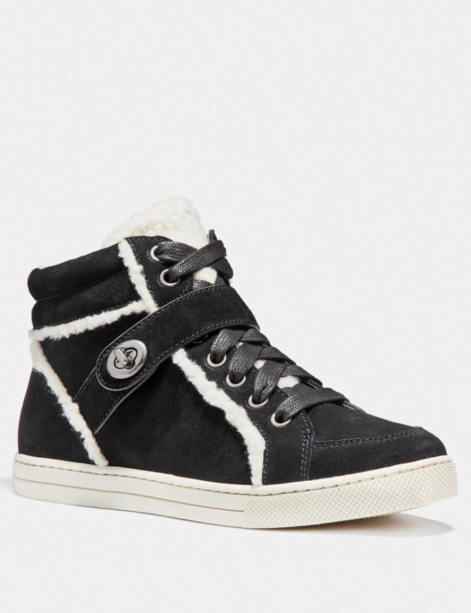 Coach Pembroke High Top Black Friends & Family Sale Women's Shoes