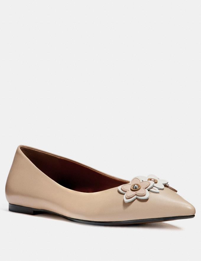 Coach Flat With Floral Applique Beechwood Friends & Family Sale Women's Shoes