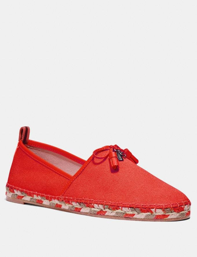 Coach Madison Espadrille Orange Red Friends & Family Sale Women's Shoes