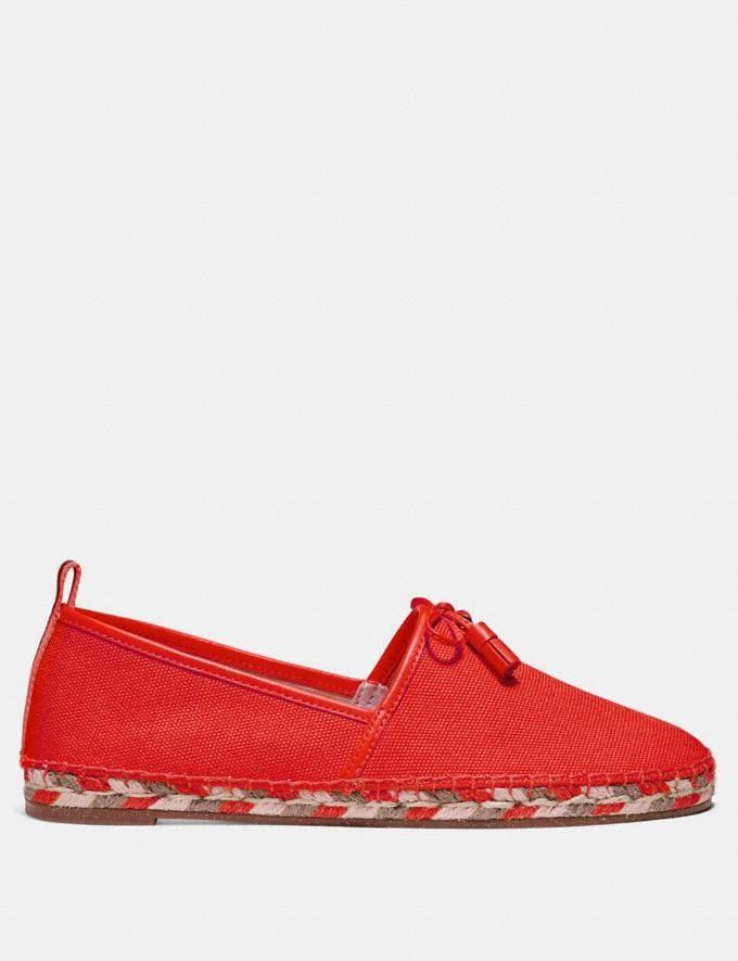 Coach Madison Espadrille Orange Red Friends & Family Sale Women's Shoes Alternate View 1