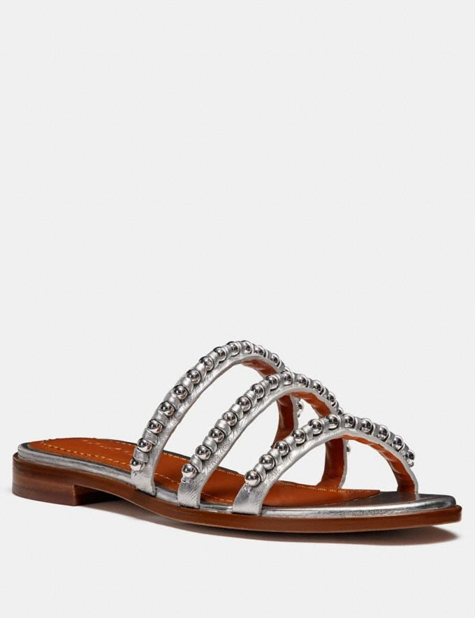 Coach Isa Ballchain Sandal Silver Friends & Family Sale Women's Shoes