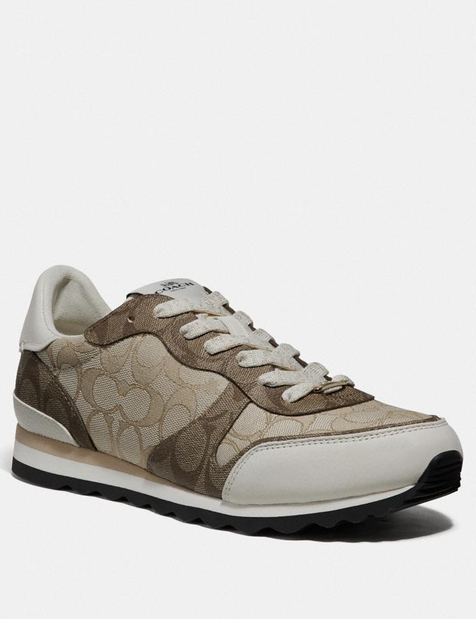 Coach C142 Runner Light Khaki/Chalk