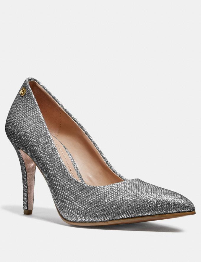 Coach Addie Pump Silver Friends & Family Sale Women's Shoes