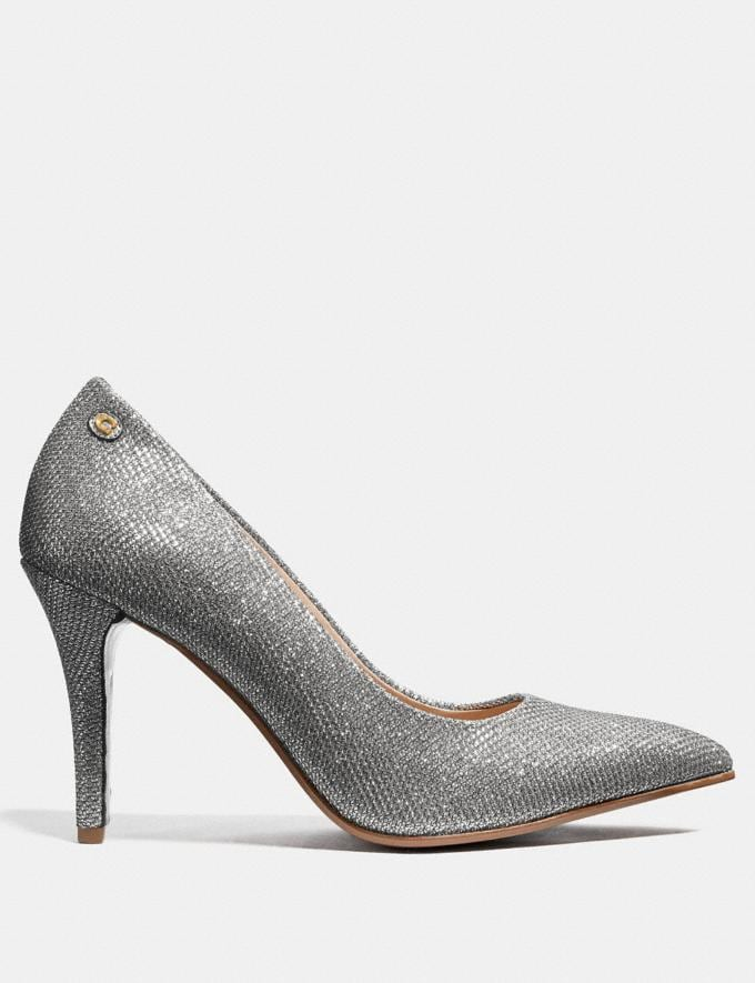 Coach Addie Pump Silver Friends & Family Sale Women's Shoes Alternate View 1