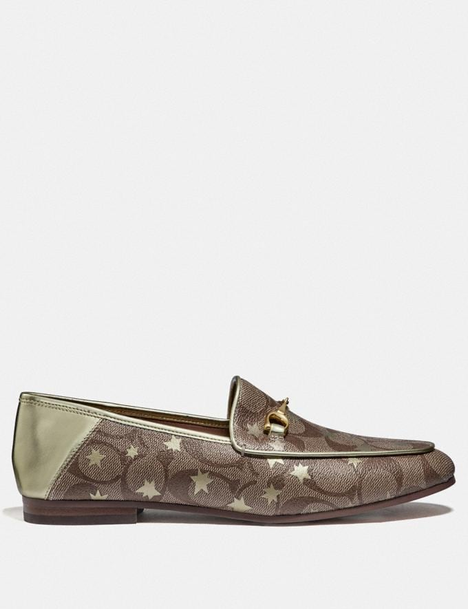 Coach Haley Loafer With Star Print Khaki/Gold  Alternate View 1