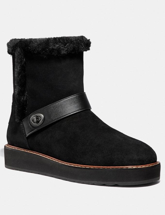Coach Illia Boot Black Friends & Family Sale Women's Shoes