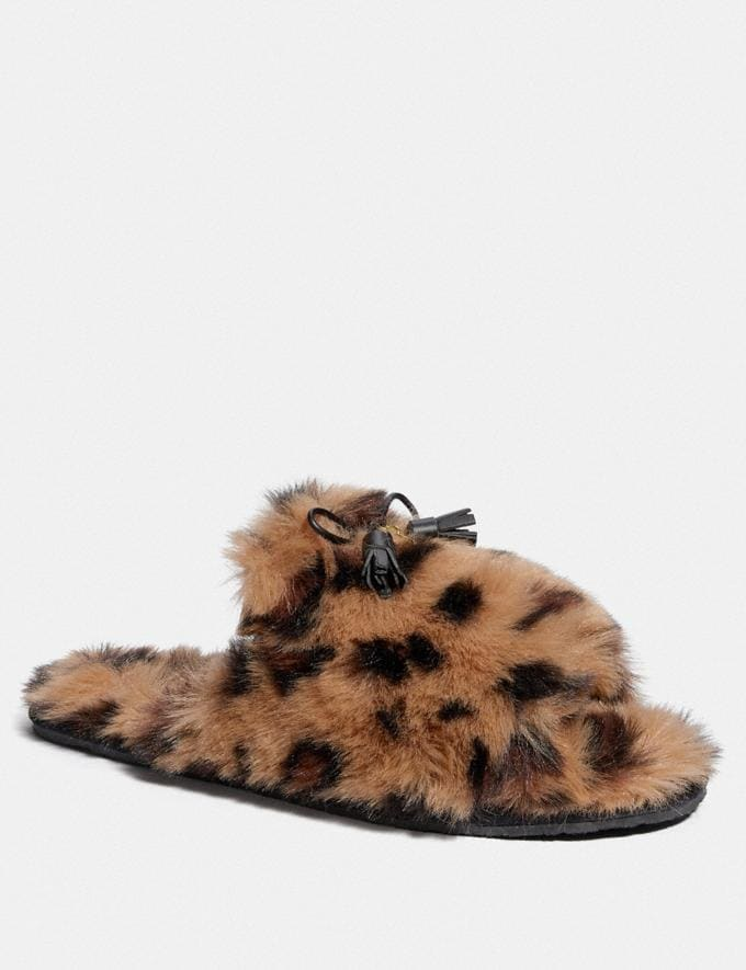Coach Zoe Slipper With Ocelot Print Natural Friends & Family Sale Women's Shoes