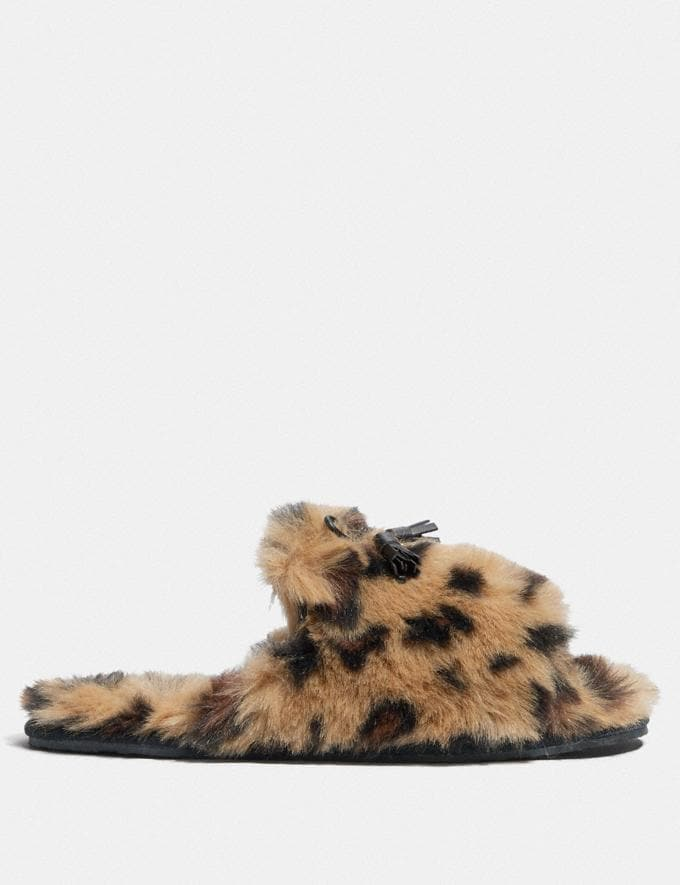 Coach Zoe Slipper With Ocelot Print Natural Friends & Family Sale Women's Shoes Alternate View 1