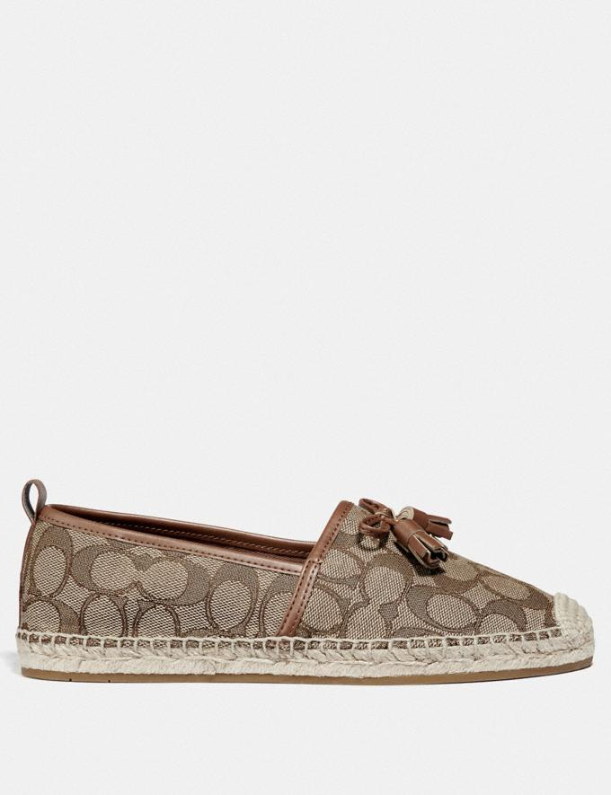 Coach Carson Espadrille Khaki/Saddle Friends & Family Sale Women's Shoes Alternate View 1