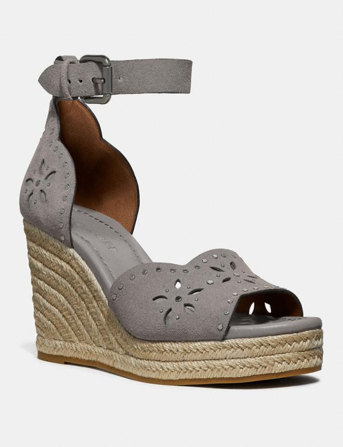 Coach Kelsi Wedge Heather Grey Friends & Family Sale Women's Shoes