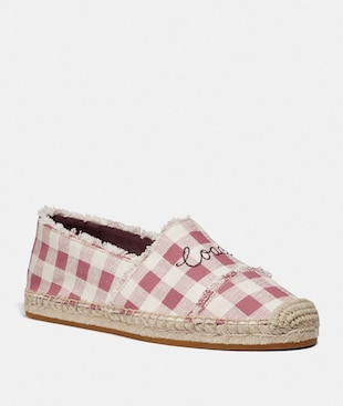 CELINA ESPADRILLE WITH GINGHAM PRINT