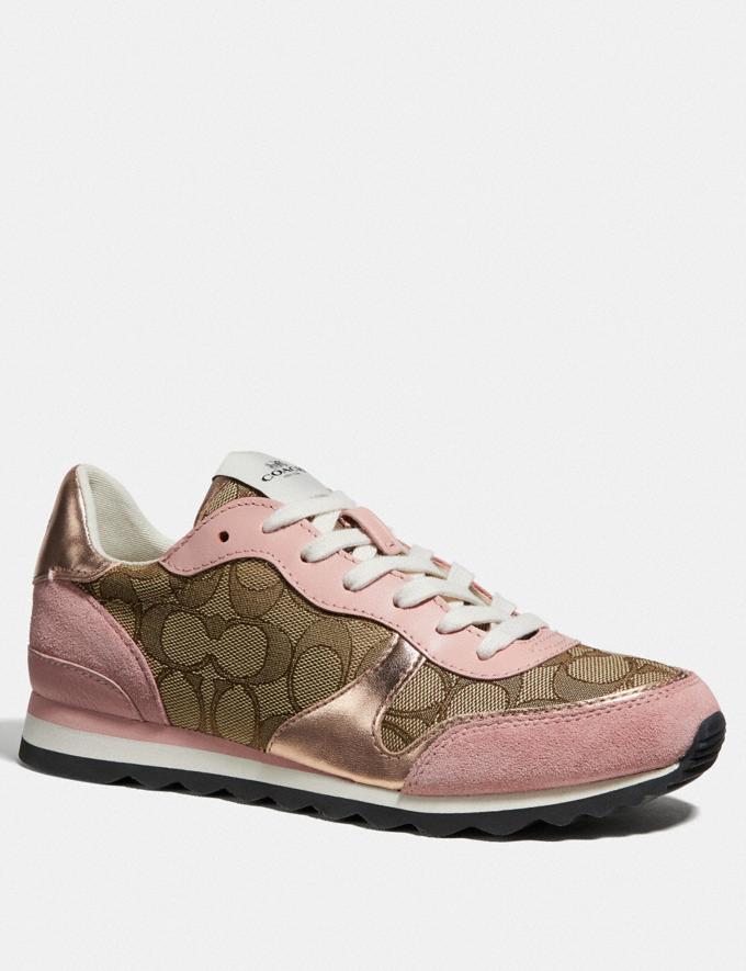 Coach C142 Runner Khaki/Petal Friends & Family Sale Women's Shoes