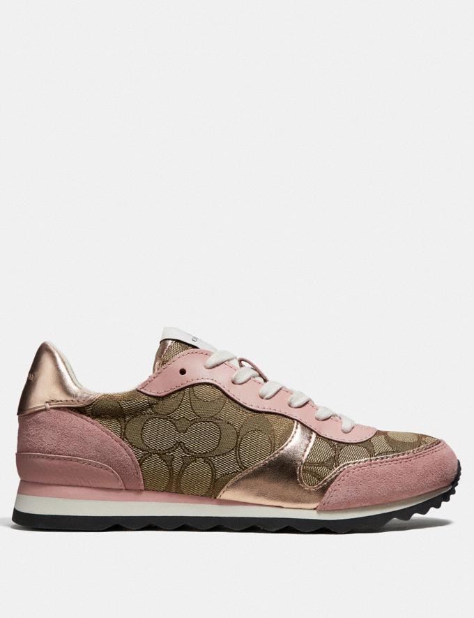 Coach C142 Runner Khaki/Petal Friends & Family Sale Women's Shoes Alternate View 1