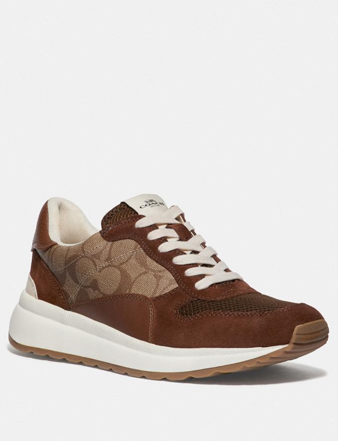 Coach Tech Runner Khaki/Saddle