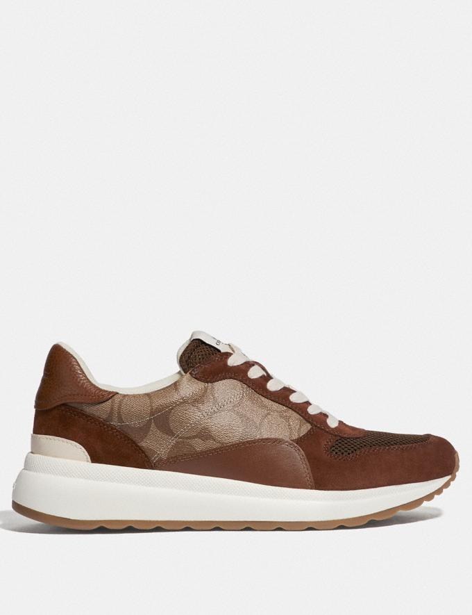 Coach Tech Runner Khaki/Saddle  Alternate View 1