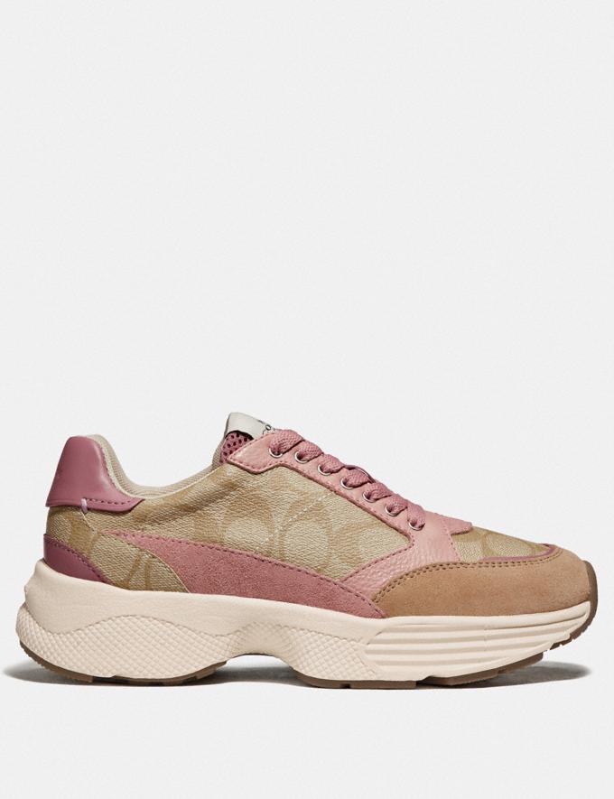 Coach C152 Tech Runner Light Khaki/Pink  Alternate View 1