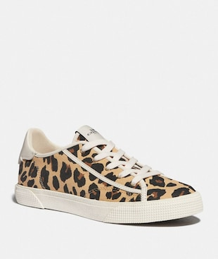 C136 LOW TOP SNEAKER WITH LEOPARD PRINT