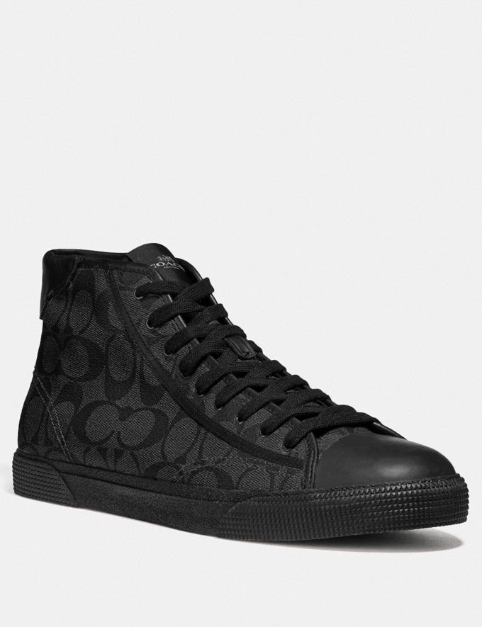 Coach C207 High Top Sneaker Blackout/Black