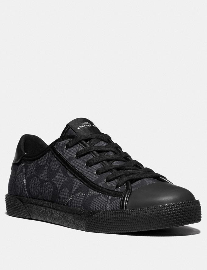 Coach C136 Low Top Sneaker Charcoal Black