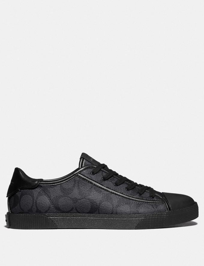 Coach C136 Low Top Sneaker Charcoal Black  Alternate View 1