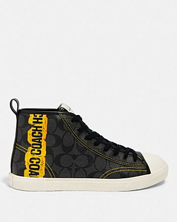 c207 high top sneaker with horse and carriage print