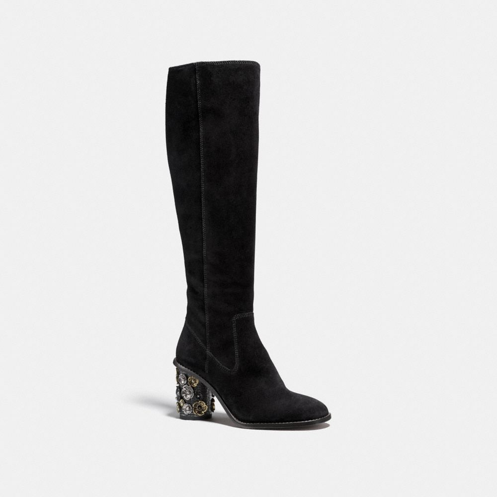 Coach Tea Rose Heel Boot