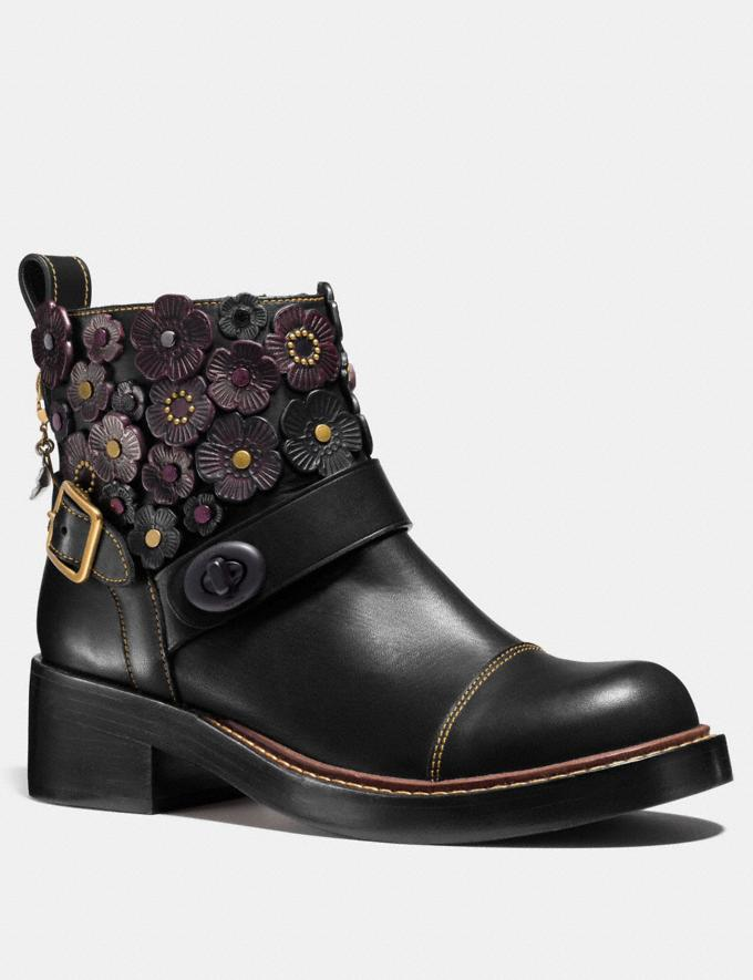 Coach Moto Bootie Black Friends & Family Sale Women's Shoes