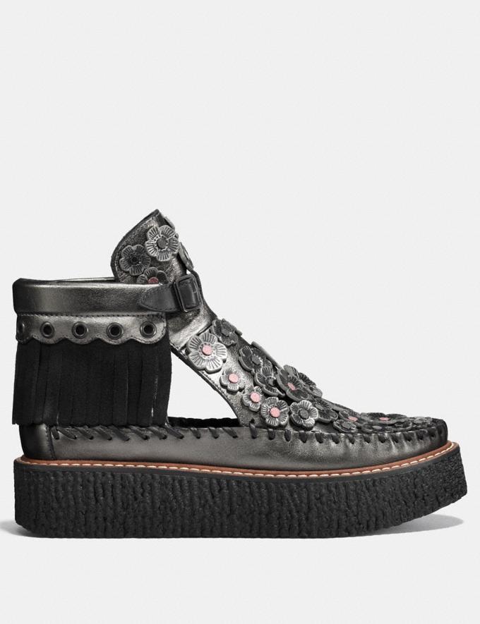 Coach Cut Out Bootie With Tea Rose Gunmetal Friends & Family Sale Women's Shoes Alternate View 1