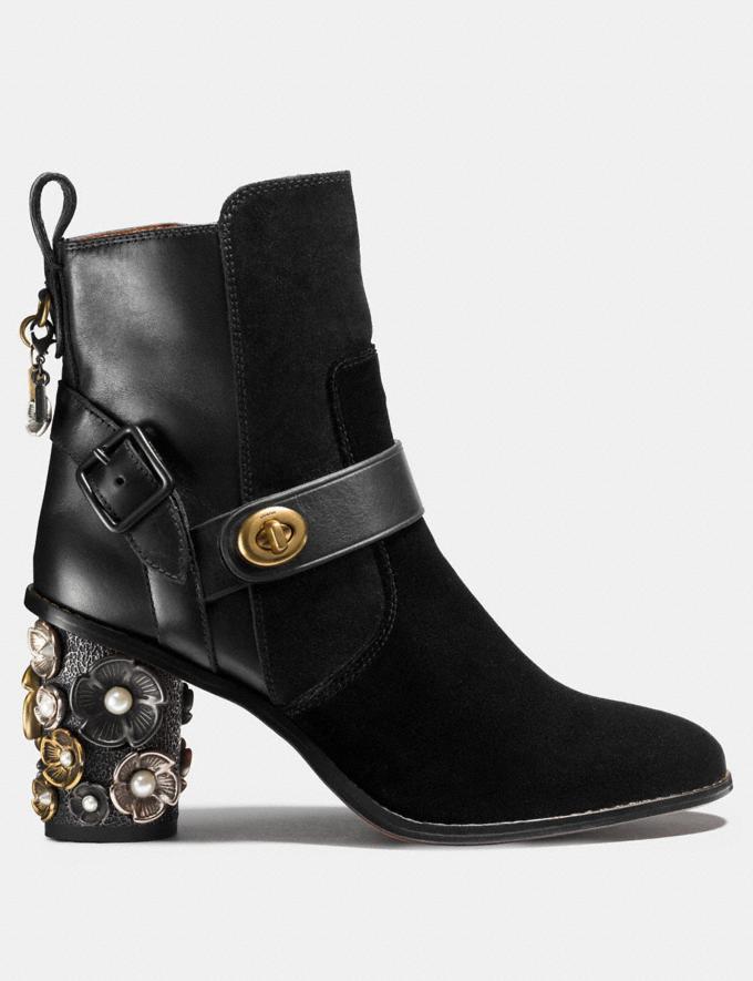 Coach Moto Bootie Heel Black/Black Friends & Family Sale Women's Shoes Alternate View 1