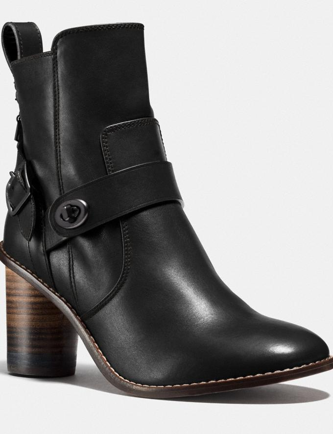 Coach Moto Bootie Heel Black SALE Women's Sale Shoes