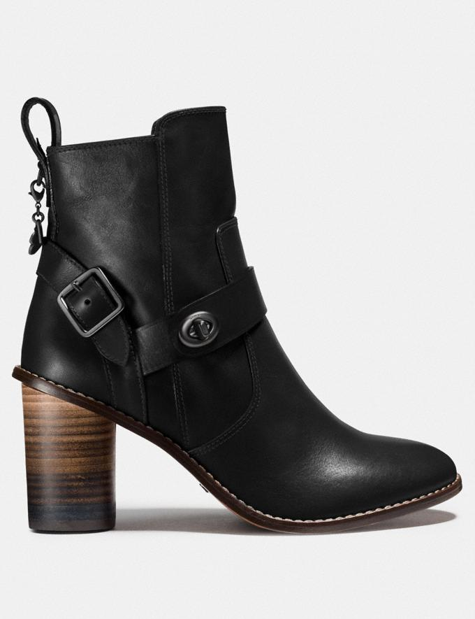 Coach Moto Bootie Heel Black SALE Women's Sale Shoes Alternate View 1