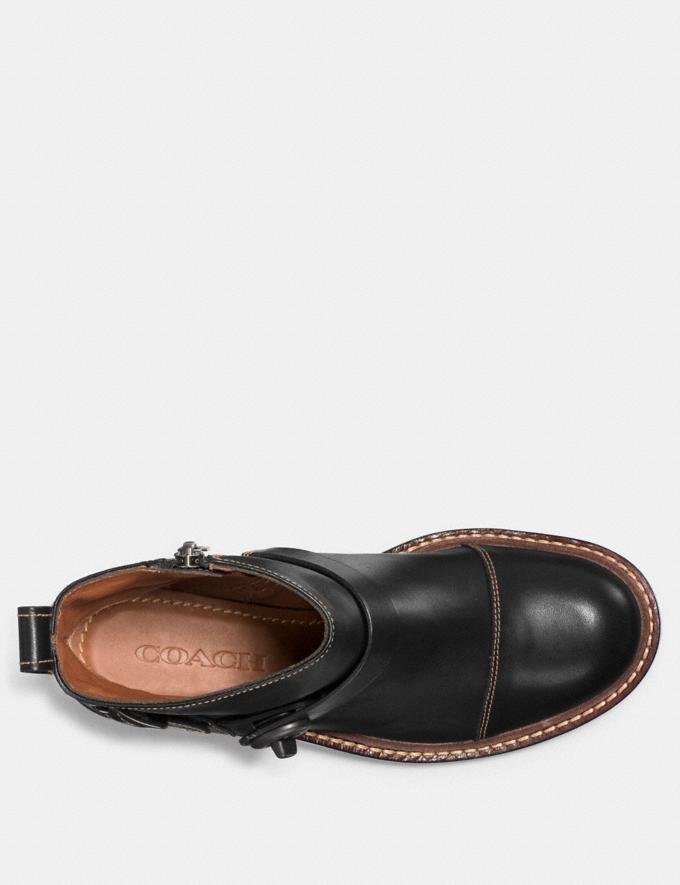 Coach Moto Bootie Black Women Shoes Boots Alternate View 2