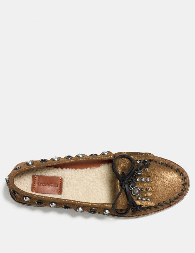 Coach Roccasin Slip on Gold CYBER MONDAY SALE Women's Sale 50 Percent Off Alternate View 2