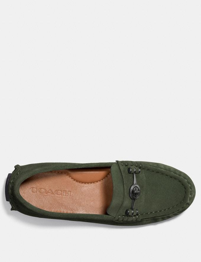 Coach Crosby Driver Olive Women Shoes Flats Alternate View 2