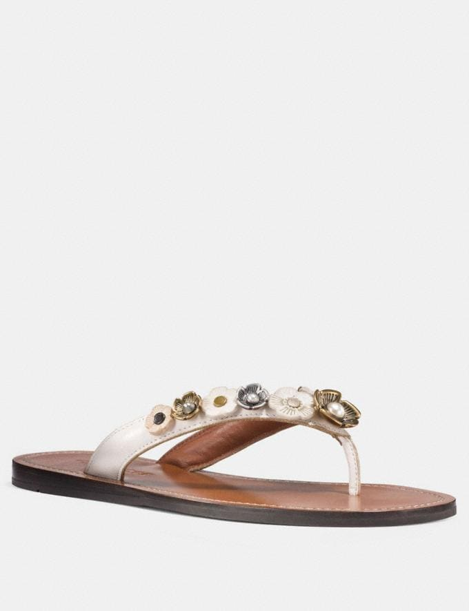 Coach Tea Rose Multi Flip Flop Chalk Friends & Family Sale Women's Shoes