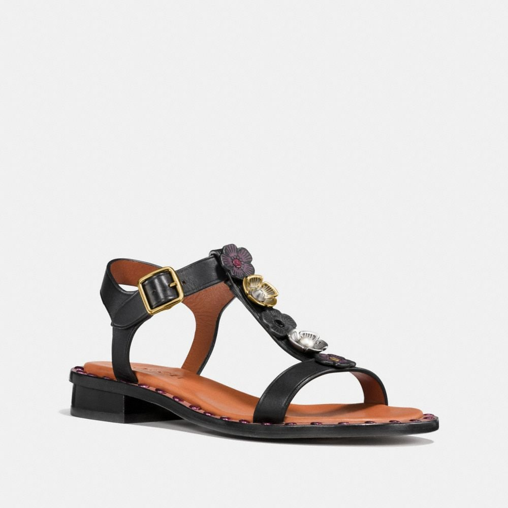 TEA ROSE T-STRAP SANDAL