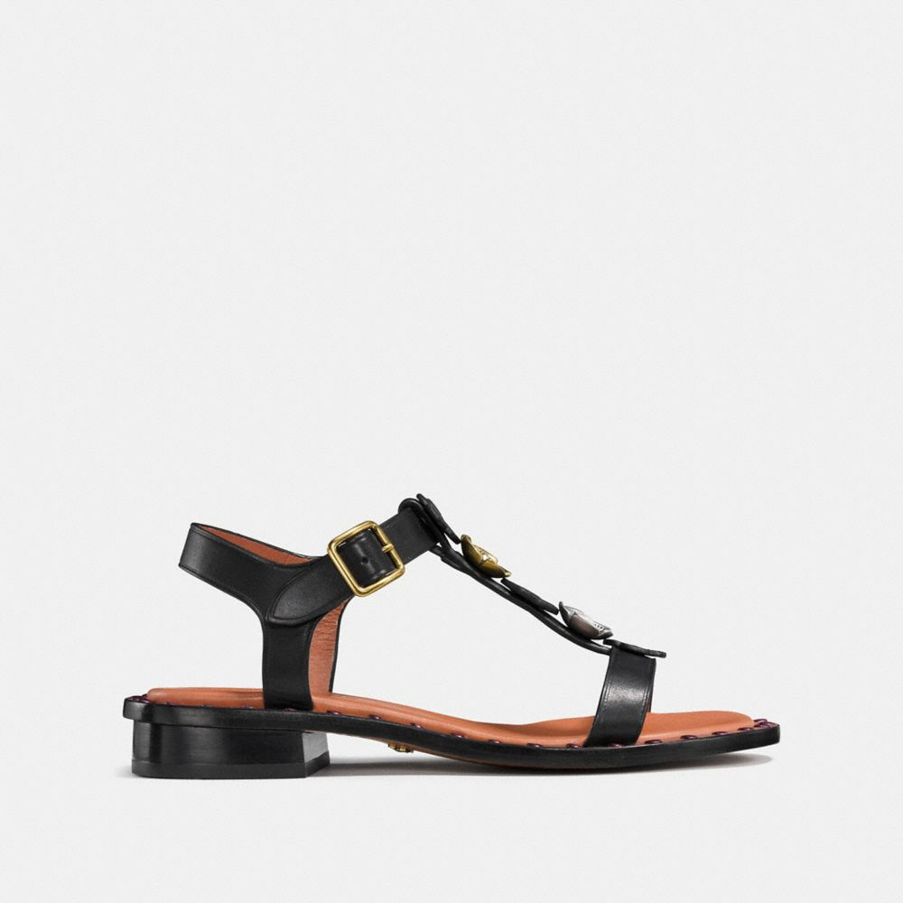 Coach Tea Rose T-Strap Sandal Alternate View 1