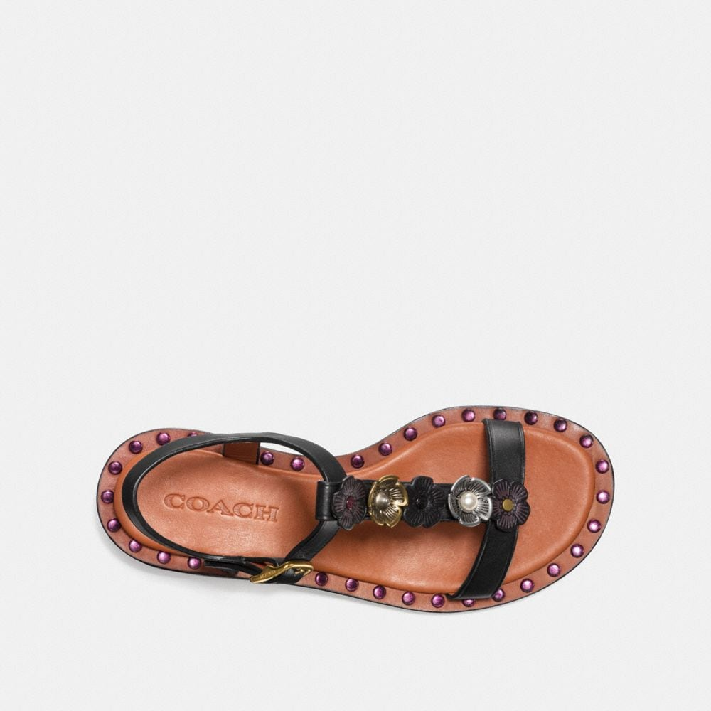 Coach Tea Rose T-Strap Sandal Alternate View 2