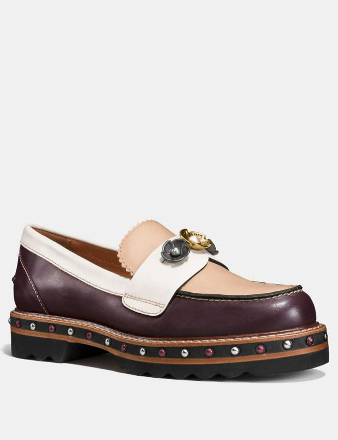 Coach Lenox Loafer Oxblood/Beechwood