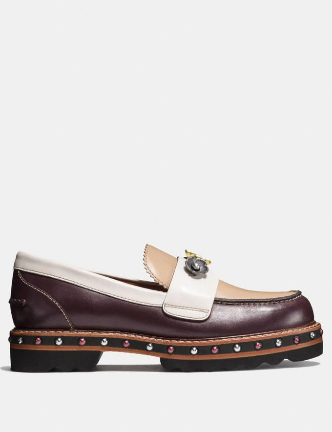 Coach Lenox Loafer Oxblood/Beechwood  Alternate View 1