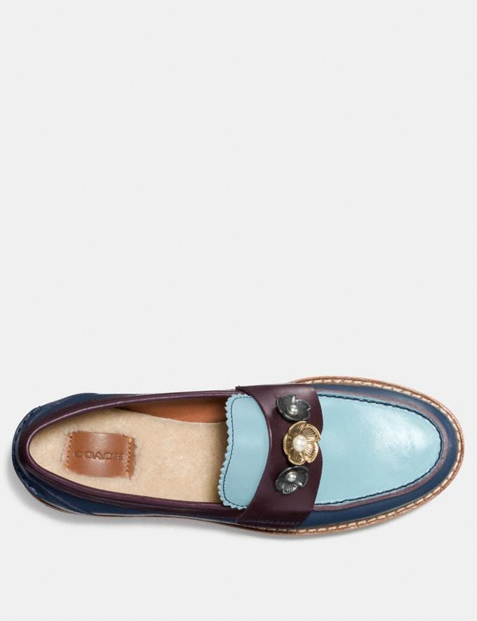 Coach Lenox Loafer Dark Denim/Steel Blue CYBER MONDAY SALE Women's Sale 50 Percent Off Alternate View 2